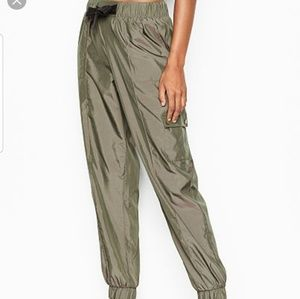 NWT Victoria's Secret Sport Tie Jogger Pants Green